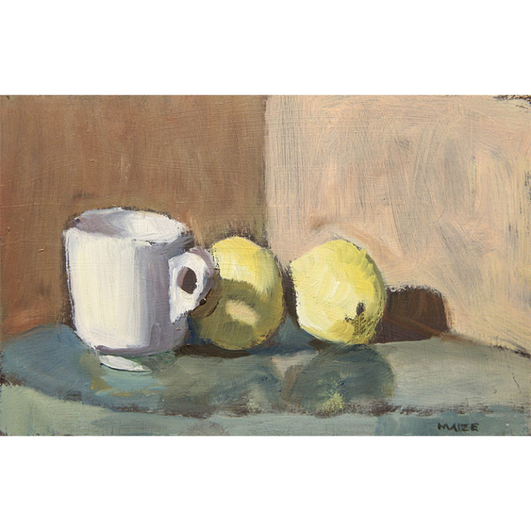 Cup and Two Lemons