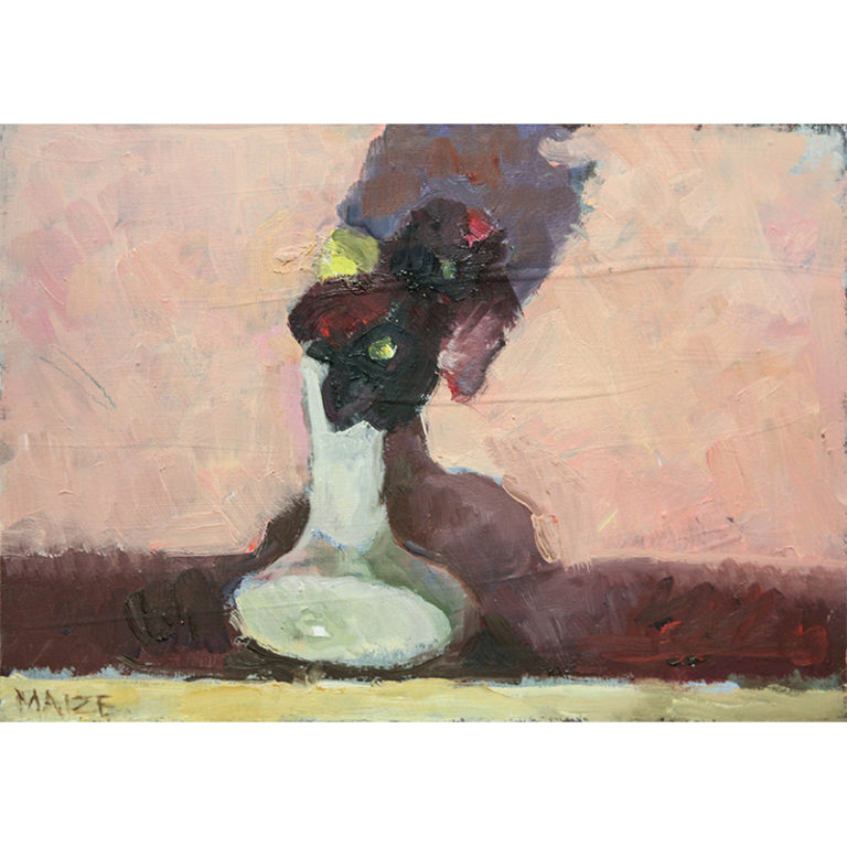 "White Vase ""Pansies"""