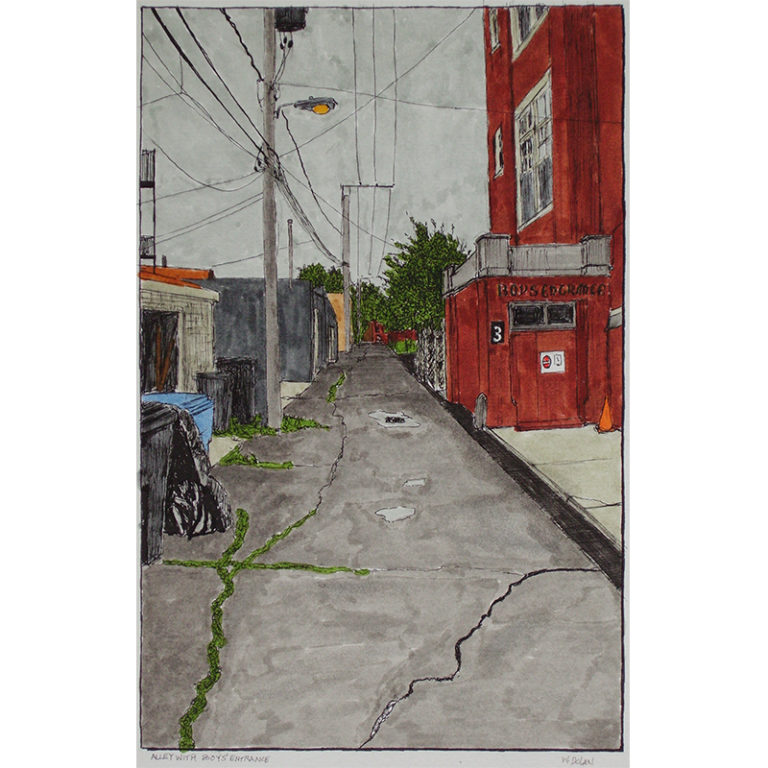 Alley with Boys Entrance