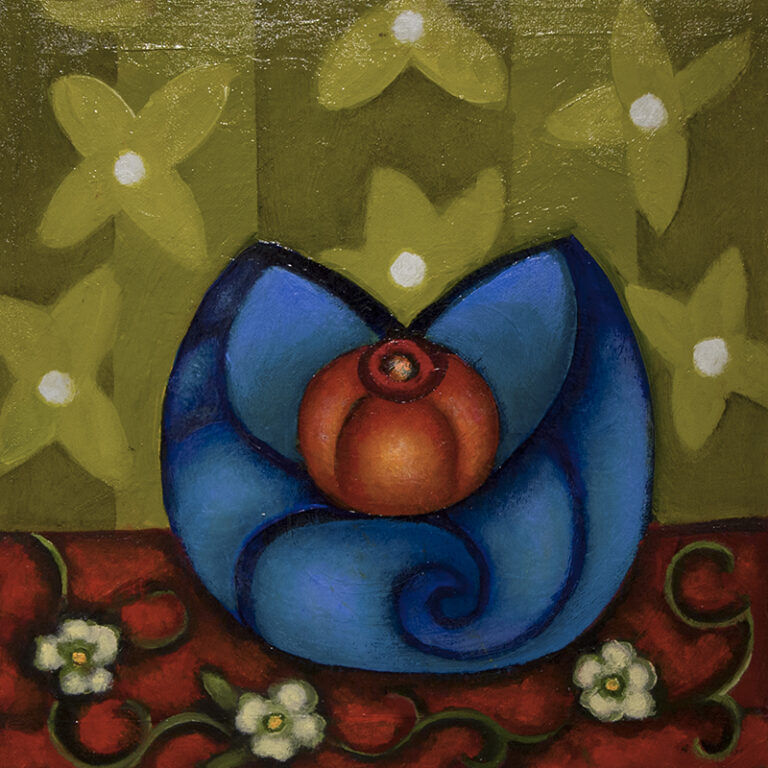 Frances Cox: Red Fruit in Blue Bowl