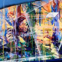 "Elusive Clarity, oil on canvas, 52""x70"""