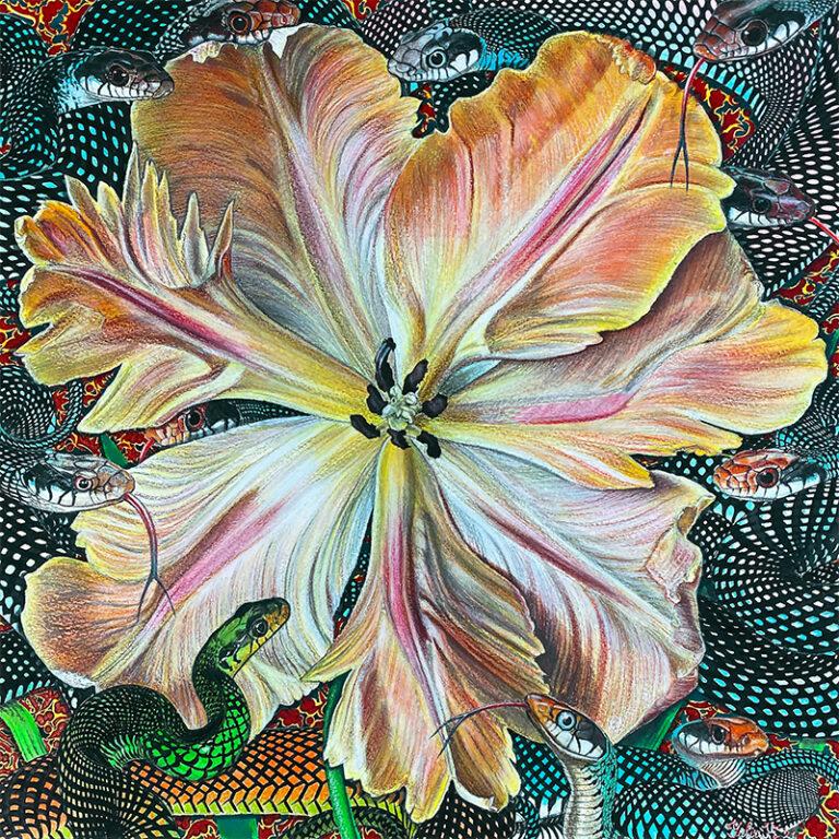Flower Serpent Composition #12
